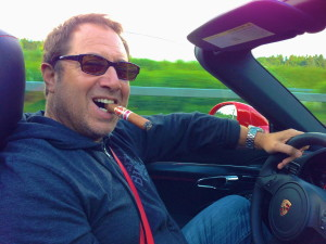 driving whilst smoking the Punch Suiza Conde 109