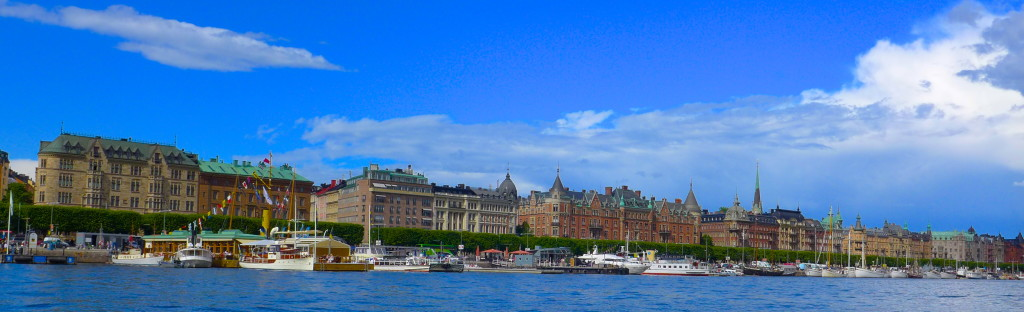 Stockholm water view- made up from 14 different isands with ~50 bridges! GORGEOUS