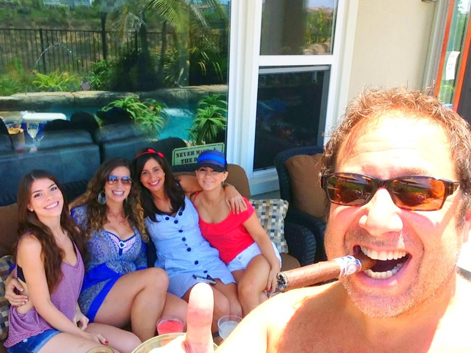 Enjoying a Rocky Patel FREEDOM Cigar in my backyard with beautiful women-HAPPY 4th!